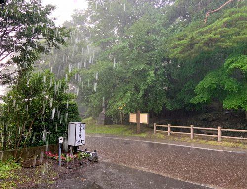 滝のような雨ですね